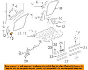 Details about 83112SJAA01ZC Acura OEM 05-08 RL Interior Fuse Box Door on