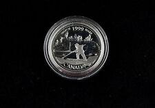 25 Cent 1999 Kanada Millenium 2000 März March Canada Silber 925 PP