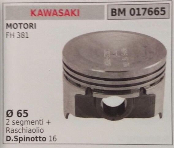 PISTONE COMPLETO DI SEGMENTI E SPIN PER MOTORE KAWASAKI FH 381 Ø 65
