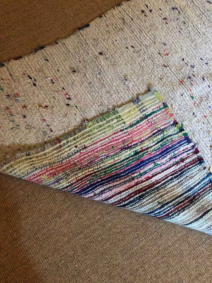 Gulvtæppe, ægte tæppe, b: 110 l: 215
