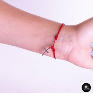 Kavak - Handmade Red Cruz String Adjustable Women's Bracelet