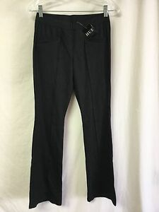 67a7b1df114a5 NWT Women's HUE Denim Bootcut Leggings Size Small Black #553P | eBay