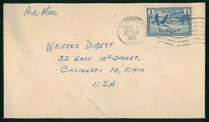 Mayfairstamps Canada 1948 Lethbridge to Writers Digest Cover wwo_76383