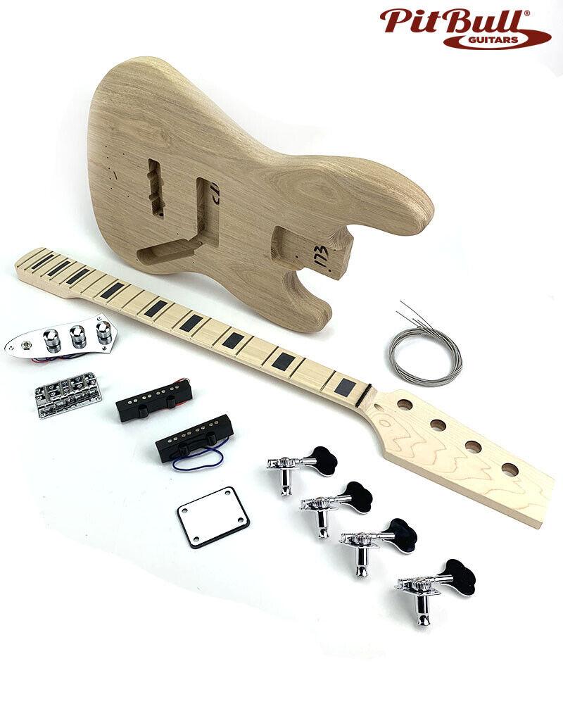 Pit Bull Guitars DJB-4 Electric Bass Guitar Kit (2 Piece American Ash body)