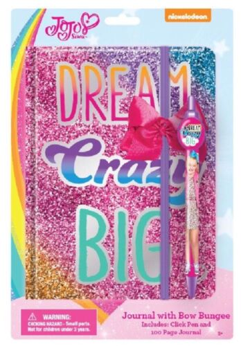 New Jojo Siwa DREAM CRAZY BIG Holograph Large Notebook Diary Journal  Pen School