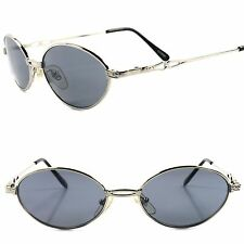 Old School Vintage Retro Fashion 80's Mens Womens Indie Silver Oval Sunglasses