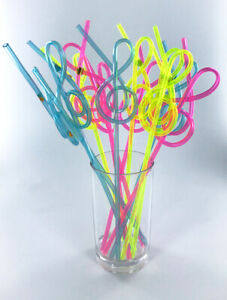 Music-Straws-Fun-G-Clef-Shape-Straws-for-kids-adults-Treble-Clef-12-per-pack