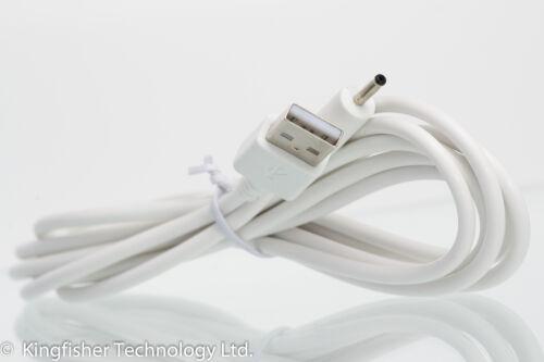 2 M USB Cable cargador blanco para Motorola MBP35 MBP35BU unidad del bebé Baby Monitor