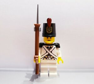 Lego-PIRATES-Imperial-Guard-Armada-BLUECOAT-Soldier-MINIFIG-White-VERSION