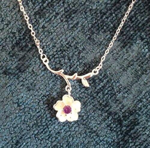 Crystal Pendant 925 Silver Chain Choker Reindeer Heart  Stars Necklace  Gift