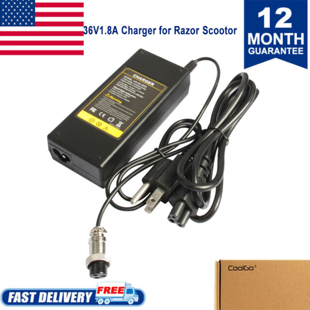 36v Lithium Battery Charger For Razor Swagway X1 2 Wheel Hoverboard Scooter Ul