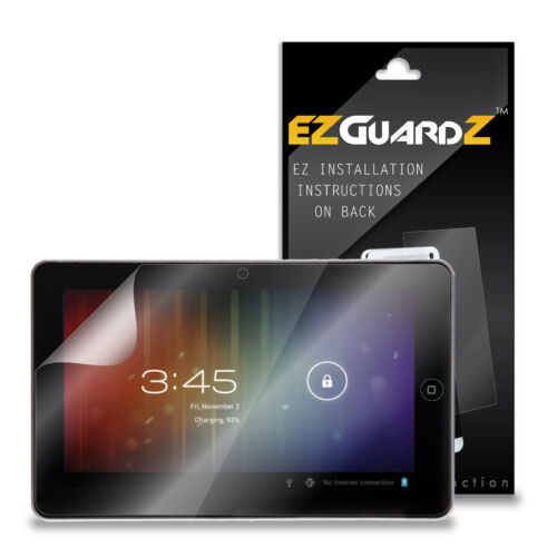 """2X EZguardz Screen Protector Cover HD 2X For iRulu AX101 10.1/"""" Tablet Clear"""