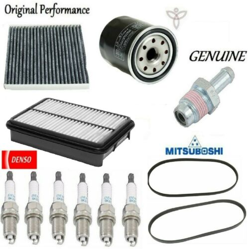 Tune Up Kit Spark Plugs Filters PCV Valve Belts for Lexus RX330 2004