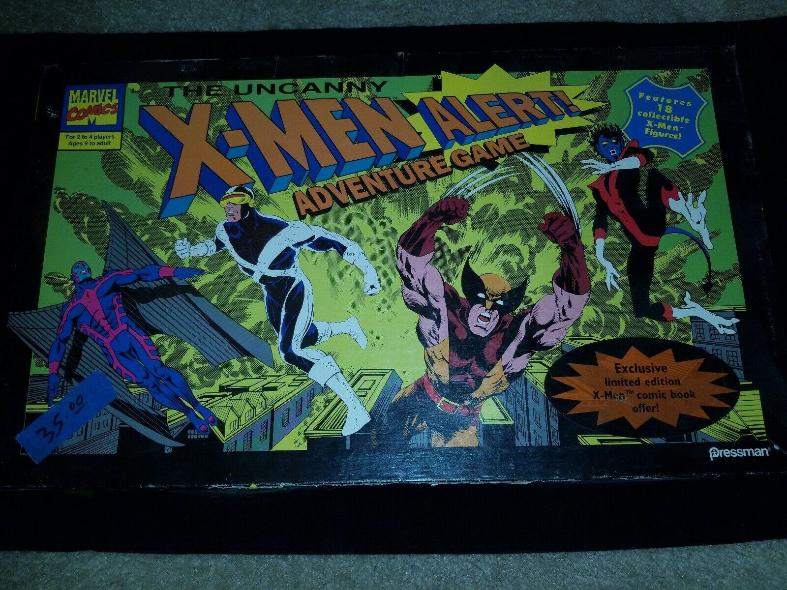 Adventure Game Replacement Parts Cards /& Figures 1992 The Uncanny X-Men Alert