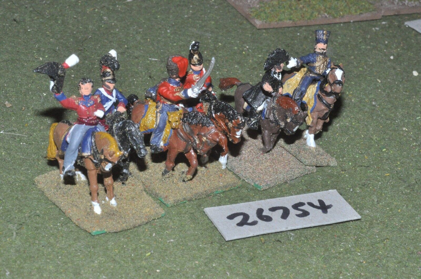 25mm napoleonic   british - officers 6 figures - command (26754)