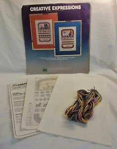 Vintage-1981-Creative-Expressions-Baby-Girl-Sampler-Counted-Cross-Stitch-Kit
