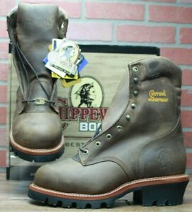 Men's Chippewa Brown Steel Toe Logger