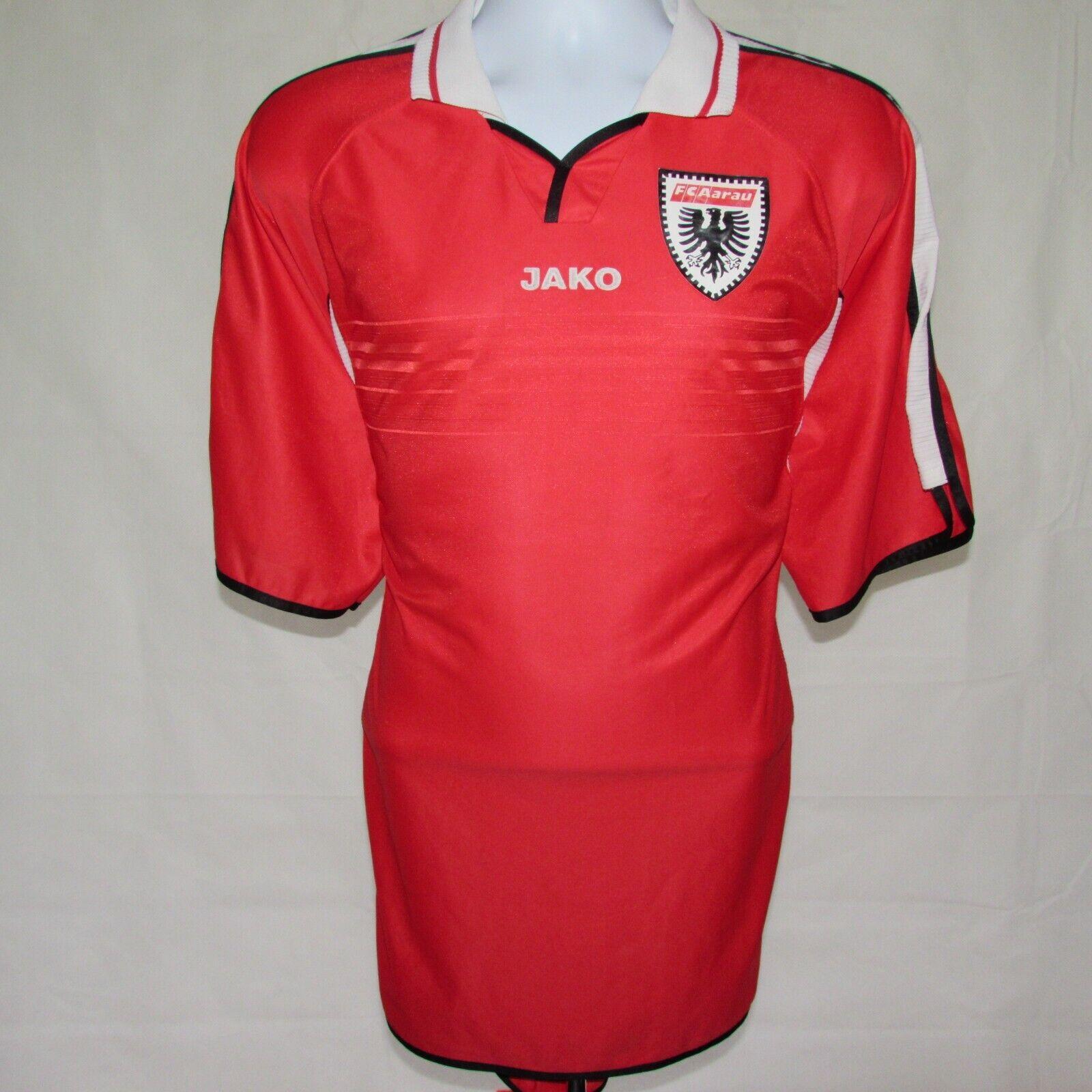 20022003 FC AARAU Calcio Casa Maglietta  3, Svizzera, JAKO, XL eccellente