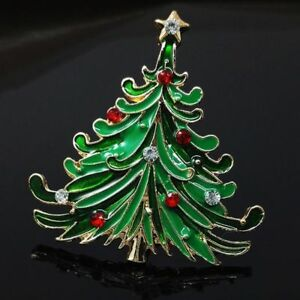 Luxury-Santa-Jewelry-Tree-Vintage-Coat-Cap-Brooch-Christmas-Rhinestone-Pin