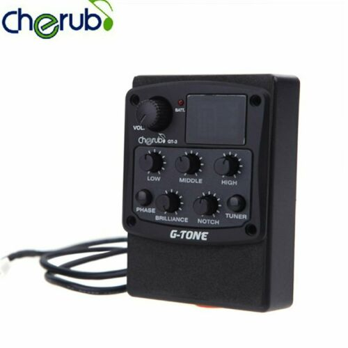 Cherub G-Tone 3-Band EQ Equalizer Acoustic Guitar Preamp Pickup Guitar Equalizer