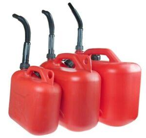 Benzinkanister Kanister Kraftstoffkanister 20/10/5L ROT/SCHWARZ Reservekanister
