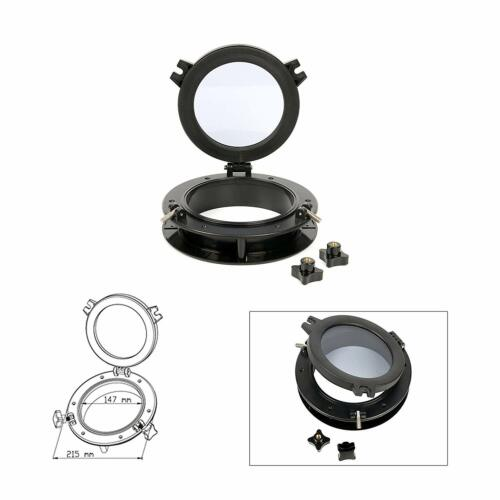 Black /& White Portlight Porthole Replacement Window Port Hole ABS Tempered Glass