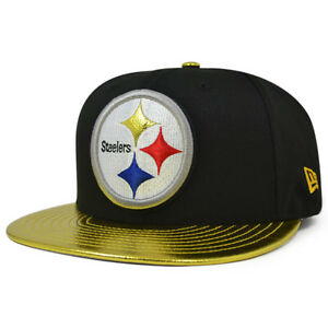 Image is loading Pittsburgh-Steelers-SHINY-TRIM-Snapback-9Fifty-New-Era- db32152bbcdf