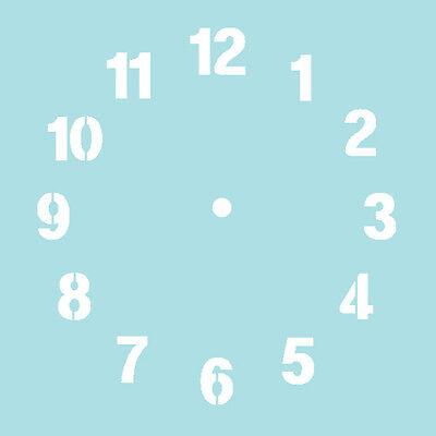 Stencils Numeral Clock Stencil Painting Decorative Wall Art DIY Home Decor