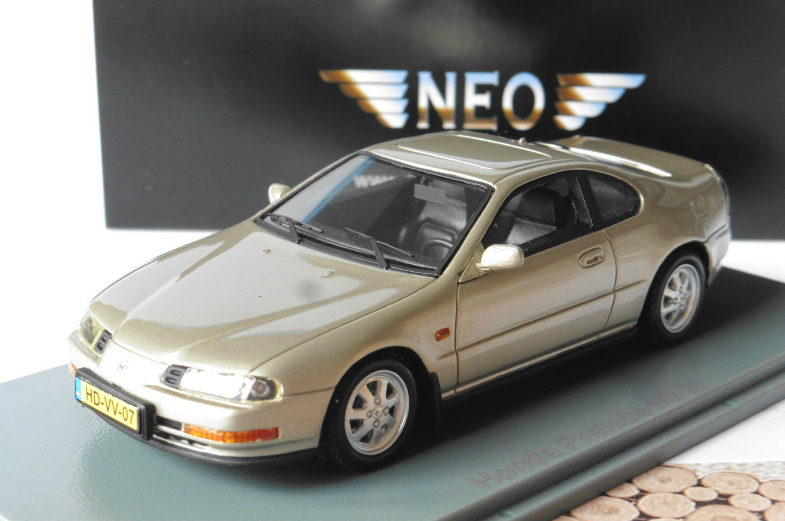 HONDA PRELUDE MKIV MKIV MKIV 1992 BEIGE METAL NEO 44507 1/43 METALLIC LHD LEFT HAND DRIVE | La Mode