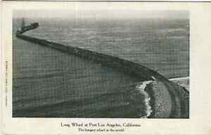 Los-Angeles-CA-034-Longest-Wharf-in-the-World-034-antique-c1905-Postcard-California