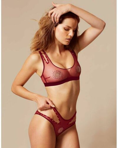 8-10  BNWT AP2 AGENT PROVOCATEUR GINGER BRA AND BRIEF SET SIZE SMALL