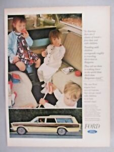 ford station wagon print ad 1966 dual facing rear fold out seats ebay. Black Bedroom Furniture Sets. Home Design Ideas