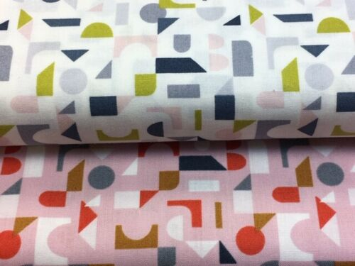 Half or Whole Metre Lewis and Irene 'Forme' Collection 100/% Cotton Fat Quarter