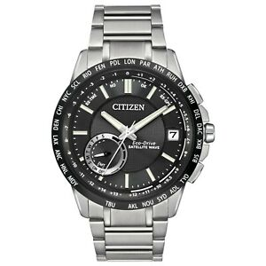Citizen-Eco-Drive-Men-039-s-Satellite-Wave-World-Time-GPS-44mm-Watch-CC3005-85E