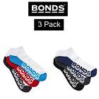 Mens Bonds Low Cut Socks Sports Active Invisi Grip 3 Pack Cotton Blend S8220N