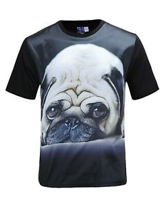 Carlin-T-shirt-noir-Funny-Cute-Dog-t-shirt