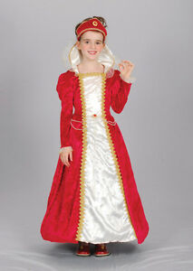 FANCY-DRESS-CHILDS-RED-PRINCESS-TUDOR-ELIZABETHAN-EDWARDIAN-PRINCESS