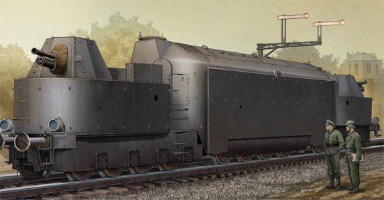 00223 Trumpeter 1 35 Model Armored Train Panzer Triebwagen Mr.16 Tank Car Kit