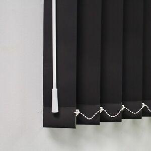 Black Blackout Louvres 3 5 Vertical