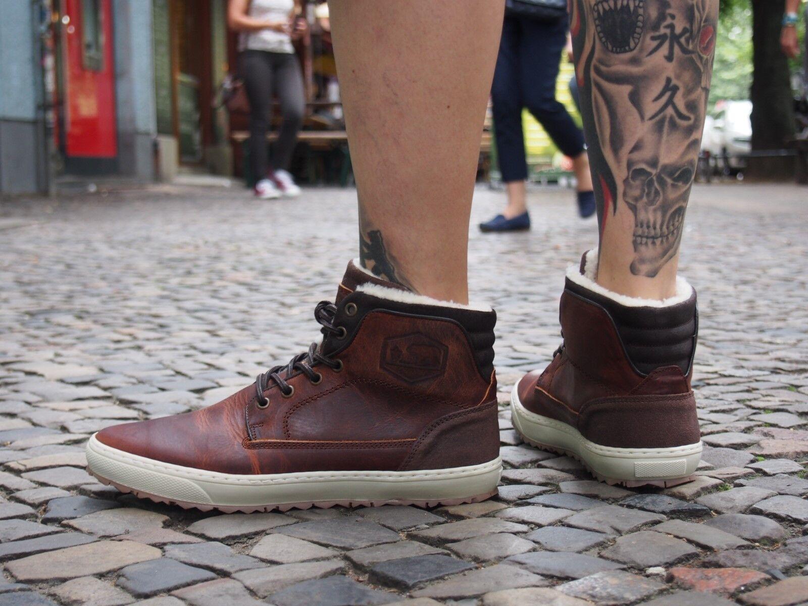 Bullboxer Schuh 11  745 braun Herrenschuhe Boots Echtleder Winterschuhe NEU !