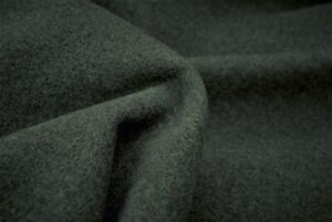 LUXURIOUS WOOL/&CASHMERE DARK GREY  PRESSED FELTED MELTON MADE IN ITALY