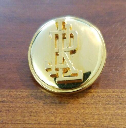 """1 Lauren Ralph Lauren 4 Botones 7//8/"""" botones de tono dorado caña Monograma Disp."""