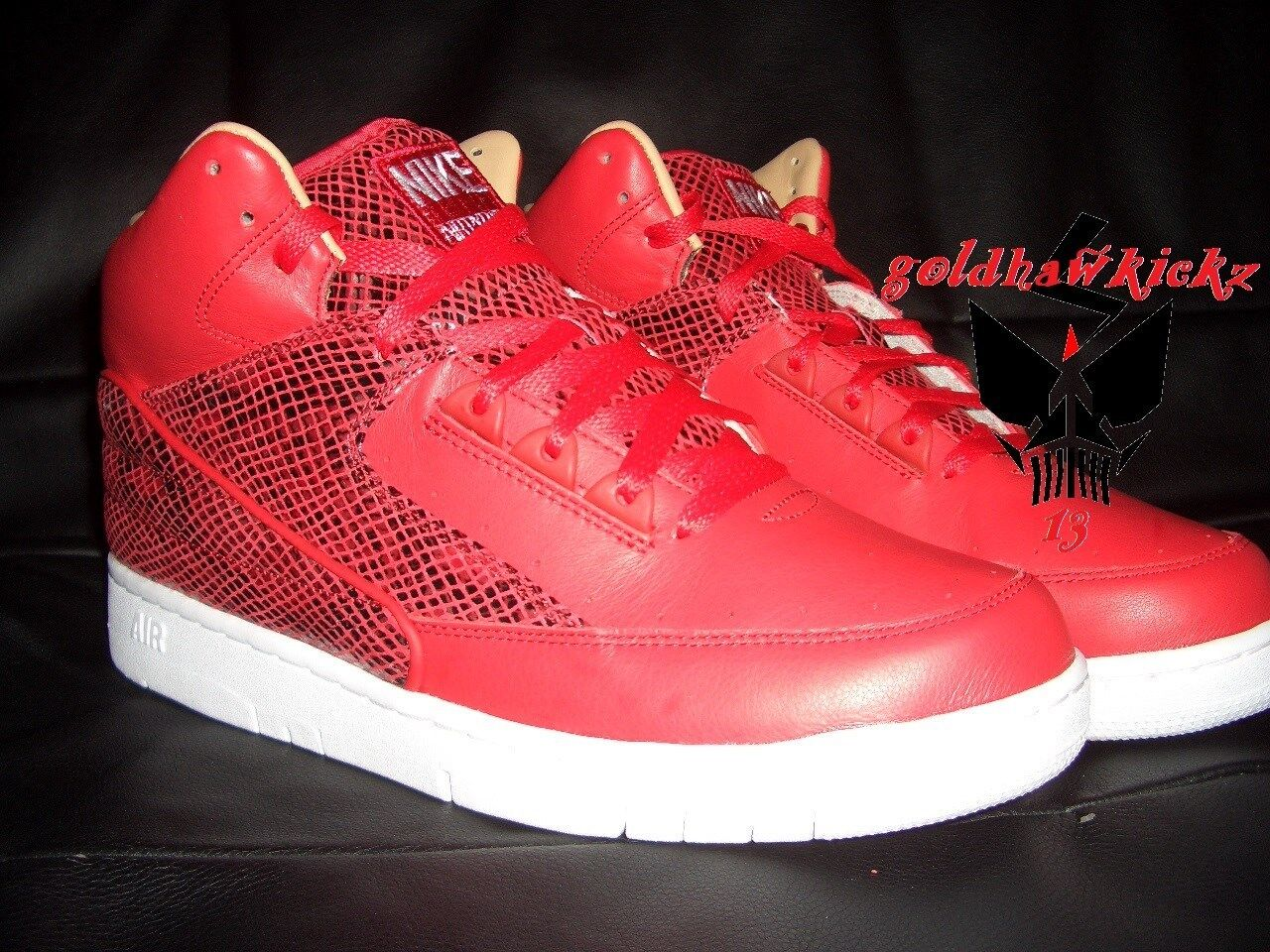 Nike Air Python Retro SP Lux Pelle University Red Red Red White 632631-601 snake 9ca0b5