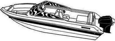 BOAT COVER FITS LARSON SEI 186 BR BOWRIDER O//B A 1997 1998 1999 2000 TRAILERABLE