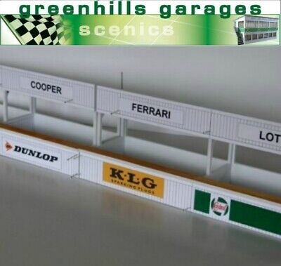 Greenhills Scalextric Slot Car Building Kit American Pit Boxes 1:24 Scale MACC630