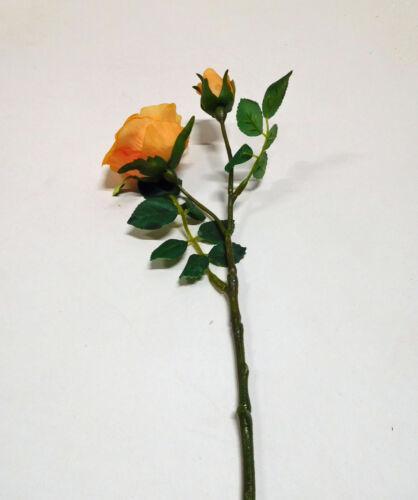 ROSE arbusto ROSE fiore di seta fiore Arte Arte Pianta Orange 31 cm 203000-87 f13