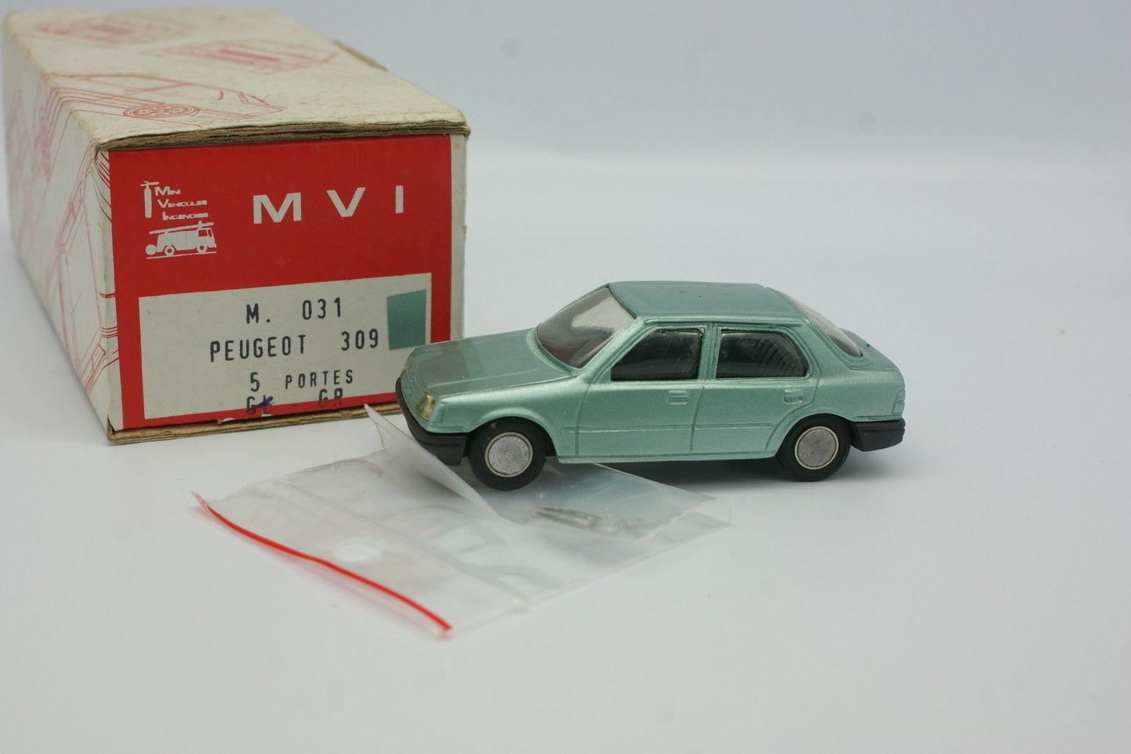 MVI Résine 1 43 - Peugeot 309 GR 5  portes verte  à vendre