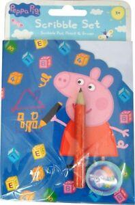 Peppa-Pig-039-Gribouillage-Set-039-gribouillage-set-Papeterie-Neuf-Cadeau
