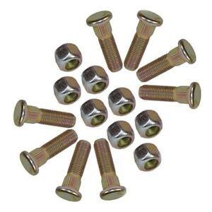 Pack-of-8-3-8-UNF-Wheel-Studs-And-Nuts-For-4-PCD-Trailer-Suspension-Hubs