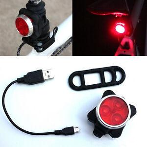 Super Bright Bicycle Lights LED rear tail lamp safety warning cycling  flash TNA